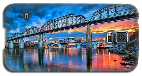 Sunset Galaxy S5 Case - Chattanooga Sunset 3 by Steven Llorca