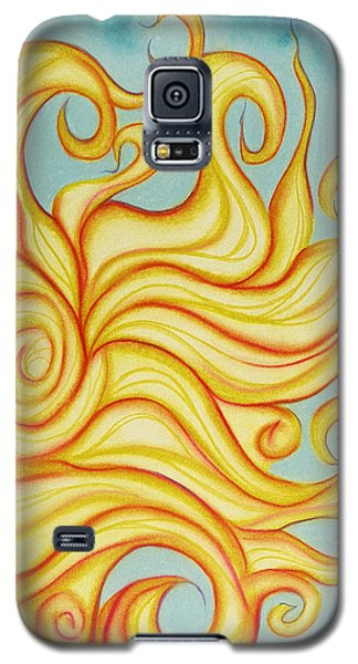 Galaxy S5 Case featuring the pastel Chatting Sun by Susan Will