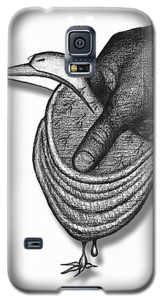 Galaxy S5 Case featuring the drawing Chausson Aux Pommes by Carl Hunter