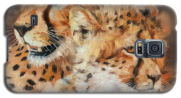 Cheetah And Cub Galaxy S5 Case by David Stribbling