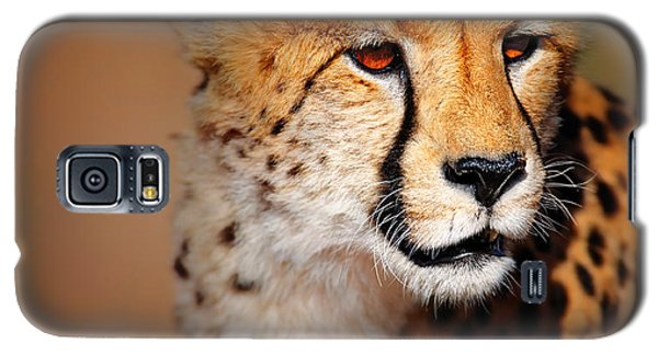 Cheetah Portrait Galaxy S5 Case by Johan Swanepoel