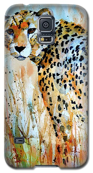 Galaxy S5 Case featuring the painting Cheetah by Steven Ponsford