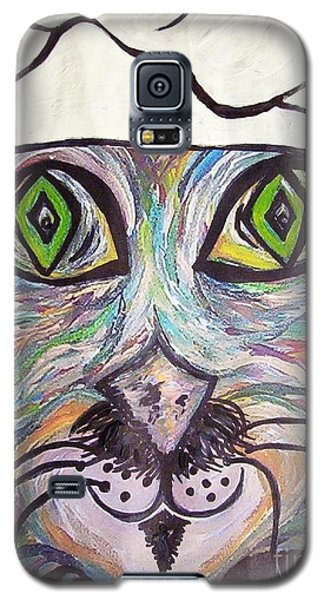 Galaxy S5 Case featuring the painting Chef Pierre ... A Cat With Good Taste by Eloise Schneider