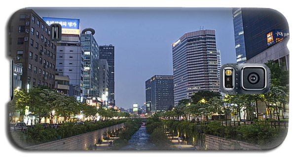 Cheonggyecheon Stream In Seoul South Korea Galaxy S5 Case