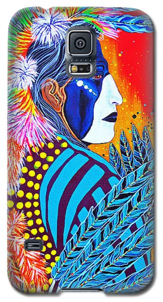 Galaxy S5 Case featuring the painting Cherokee Dancer by Debbie Chamberlin