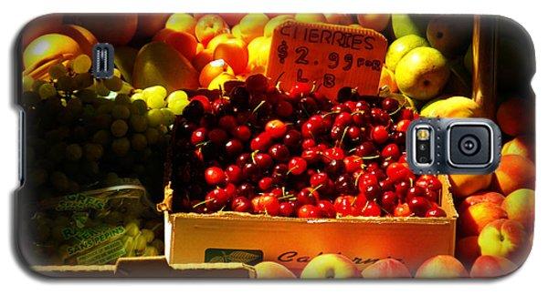 Galaxy S5 Case featuring the photograph Cherries 299 A Pound by Miriam Danar