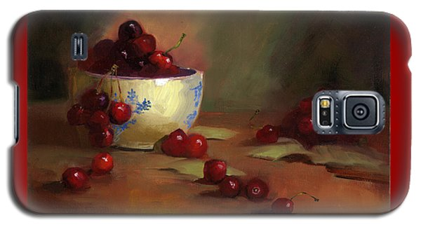 Galaxy S5 Case featuring the painting Cherries by Susan Thomas