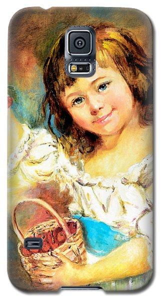 Cherry Basket Girl Galaxy S5 Case