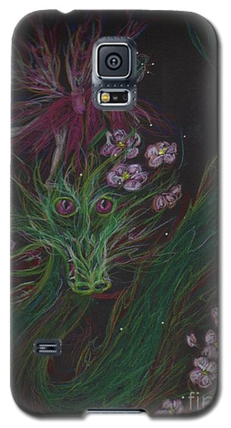 Galaxy S5 Case featuring the drawing Cherry Blossom Drunk by Dawn Fairies