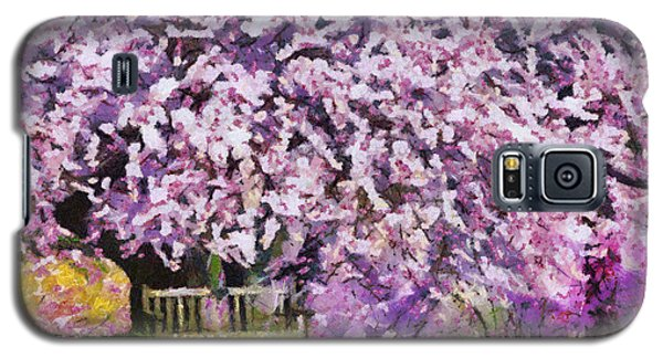 Galaxy S5 Case featuring the painting Cherry Blossom by Georgi Dimitrov