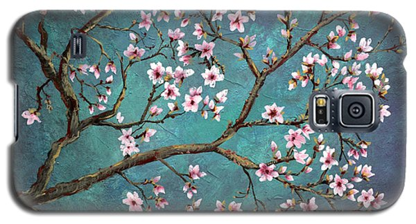 Galaxy S5 Case featuring the painting Cherry Blossom by Nancy Bradley