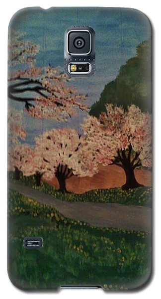 Cherry Blossom Path Galaxy S5 Case by Christy Saunders Church