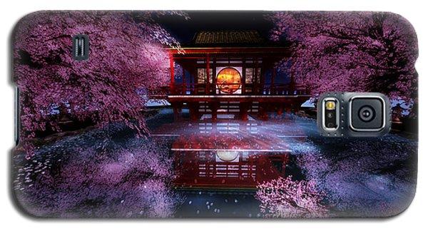 Cherry Blossom Tea House Galaxy S5 Case by Kylie Sabra