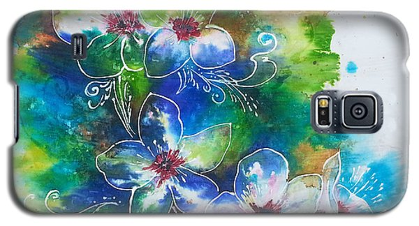 Galaxy S5 Case featuring the painting Cherry Blossom Tree by Christy  Freeman