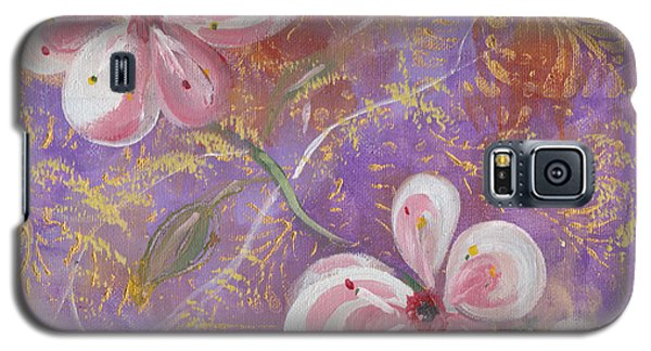 Galaxy S5 Case featuring the painting Cherry Blossoms by John Keaton