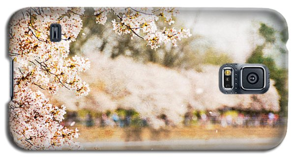 Galaxy S5 Case featuring the photograph Cherry Blossoms In Washington Dc by Vizual Studio