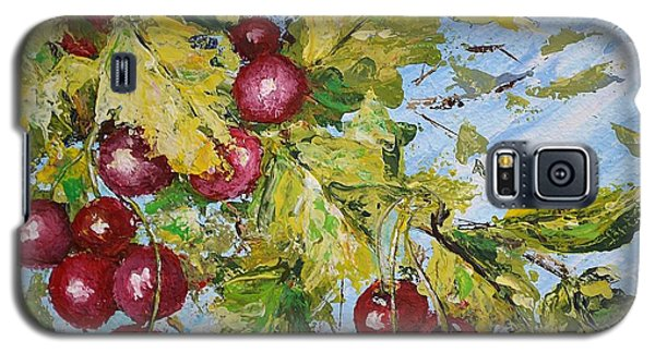 Galaxy S5 Case featuring the painting Cherry Breeze by Kathleen Pio