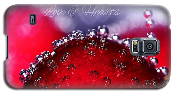 Cherry Fizz Hearts With Love Galaxy S5 Case by Tracie Kaska