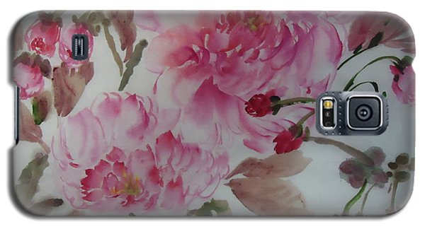 Galaxy S5 Case featuring the painting Cherry Flower54012-1 by Dongling Sun