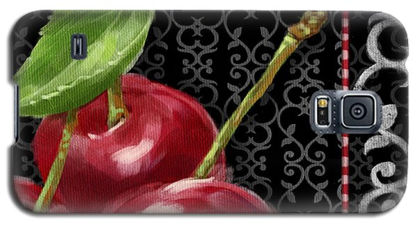 Cherry On Black And White Galaxy S5 Case