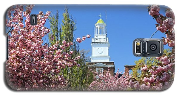 Galaxy S5 Case featuring the photograph Cherry Trees And Village Hall by Jose Oquendo
