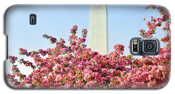Cherry Trees And Washington Monument Two Galaxy S5 Case by Mitchell R Grosky