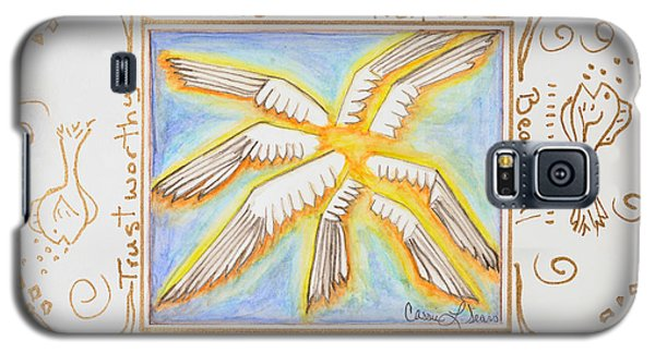 Galaxy S5 Case featuring the painting Cherubim by Cassie Sears
