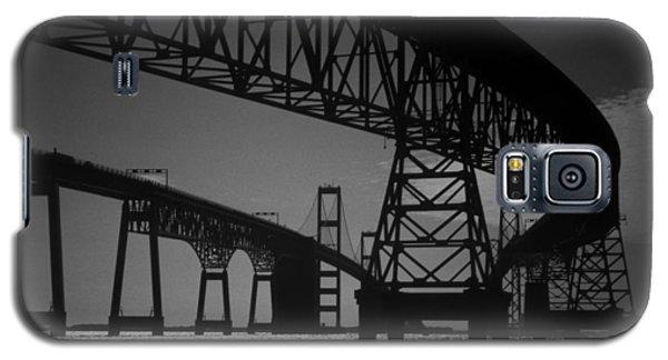 Chesapeake Bay Bridge At Annapolis Galaxy S5 Case by Skip Willits