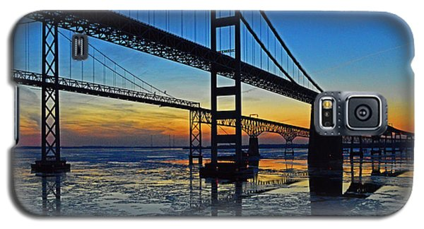 Chesapeake Bay Bridge Reflections Galaxy S5 Case