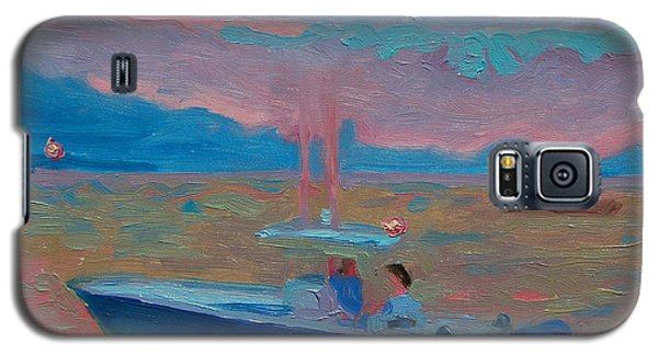 Galaxy S5 Case featuring the painting Chesapeake Bay Twilight With Moon by Thomas Bertram POOLE