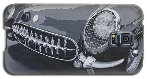 Galaxy S5 Case featuring the painting Chevrolet Corvette 1954 by Anna Ruzsan