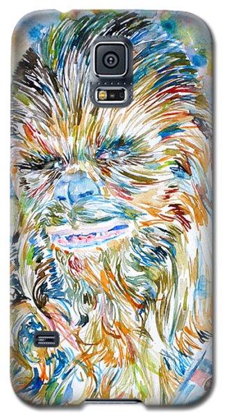 Chewbacca Watercolor Portrait Galaxy S5 Case