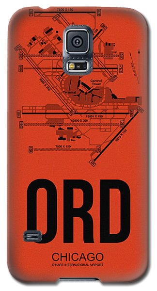 Chicago Airport Poster 1 Galaxy S5 Case by Naxart Studio