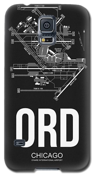 Transportation Galaxy S5 Case - Chicago Airport Poster by Naxart Studio
