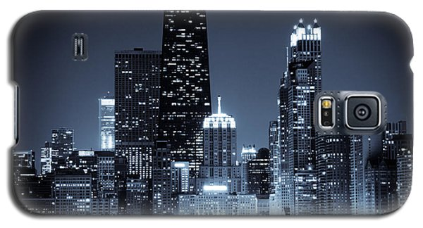 Chicago At Night With Hancock Building Galaxy S5 Case by Paul Velgos
