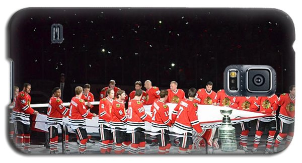 Chicago Blackhawks And The Banner Galaxy S5 Case