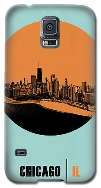 Sears Tower Galaxy S5 Case - Chicago Circle Poster 2 by Naxart Studio