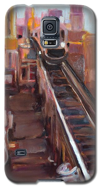 Galaxy S5 Case featuring the painting Chicago El by Julie Todd-Cundiff