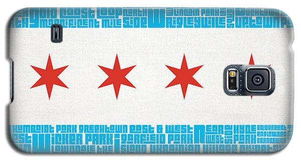 Chicago Flag Neighborhoods Galaxy S5 Case by Mike Maher