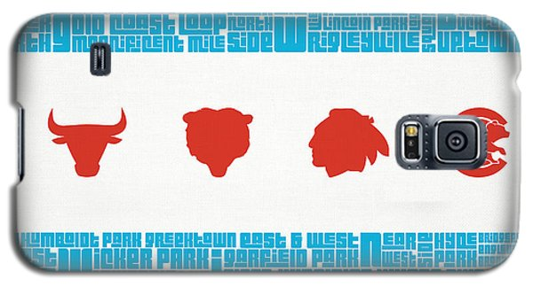 City Scenes Galaxy S5 Case - Chicago Flag Sports Teams by Mike Maher