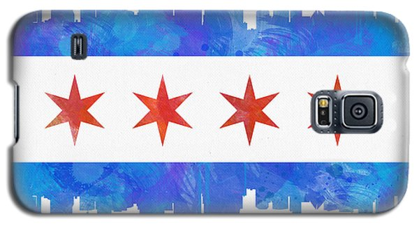 Chicago Flag Watercolor Galaxy S5 Case