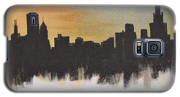 Galaxy S5 Case featuring the painting Chicago by Gary Smith