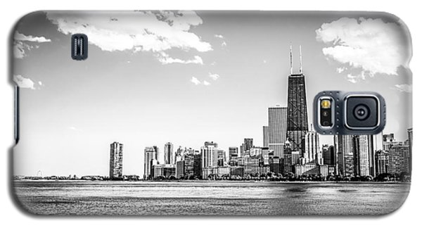 Chicago Lakefront Skyline Black And White Picture Galaxy S5 Case