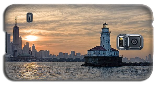 Chicago Lighthouse And Skyline Galaxy S5 Case by John Hansen