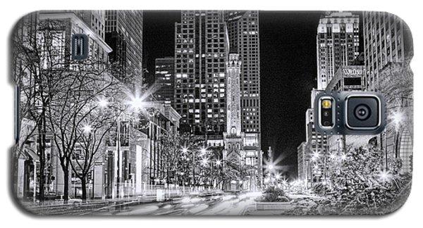 Chicago Michigan Avenue Light Streak Black And White Galaxy S5 Case