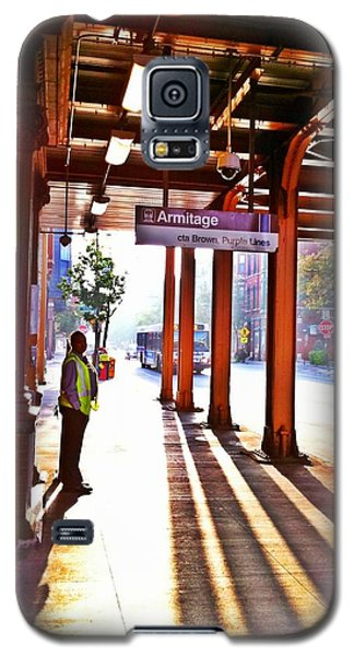 Galaxy S5 Case featuring the photograph Chicago Morning @ The Brown Line Armitage by Eleanor Abramson