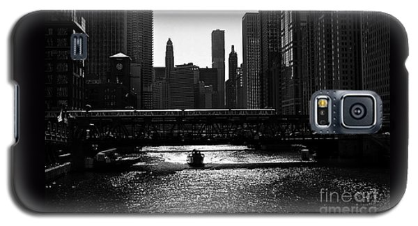 Chicago Morning Commute - Monochrome Galaxy S5 Case