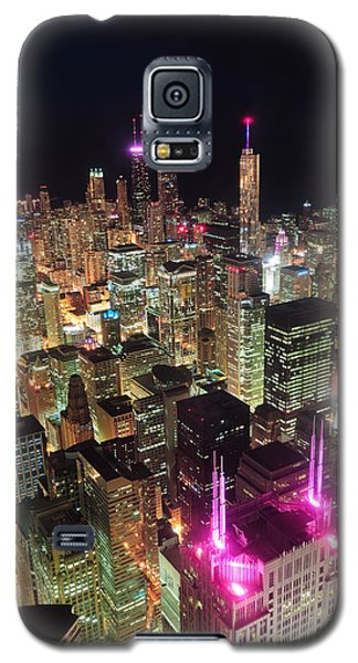 Chicago Night Aerial View Galaxy S5 Case