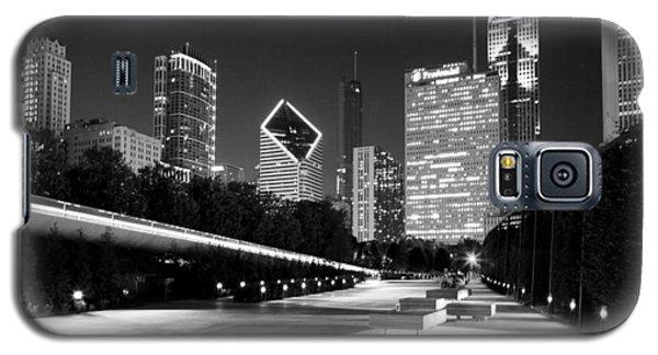 Chicago Night Skyline Black White Galaxy S5 Case