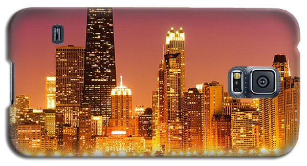 Chicago Night Skyline With John Hancock Building Galaxy S5 Case